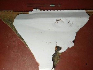 ACA World Aussie Cargo Alliance The underside of the suspected plane part MH370